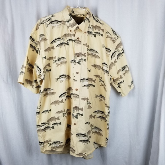 North River Other - North River shirt size M yellow trout fishing